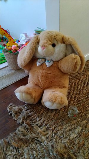 Like new big bunny plush toy teddy bear baby for Sale in Los Angeles, CA