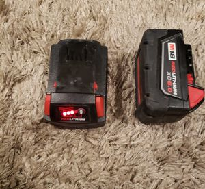M18 Milwaukee Red Lithium Drill Battery for Sale in Los Angeles, CA