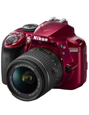 Nikon D3300 DX-format DSLR Kit w/ 18-55mm DX VR II & 55-200mm DX VR II Zoom Lenses and Case (red) for Sale in Plano, TX