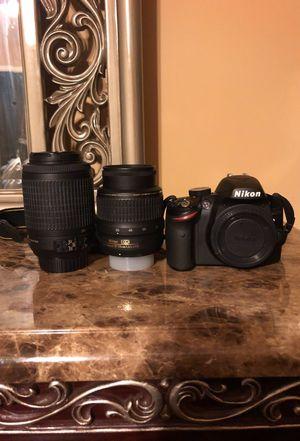 DSLR Nikon D3200 w/ 18-55 mm lens, 55-200 mm lens & camera bag for Sale in Durham, NC