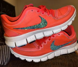 RARE GLITTER NIKE FREE 5.0 NEON ORANGE CORAL for Sale in Airway Heights, WA
