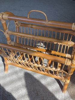 Rattan Magazine Rack for Sale in San Diego,  CA
