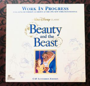 BEAUTY AND THE BEAST Work In Progress LASERDISC CAV Letterbox Edition for Sale in Orlando, FL