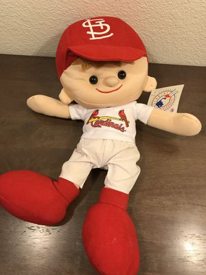 CARDINALS BASEBALL NANCO JERSEY LITTLE LEAGUE BOY HAT PLUSH STUFFED ANIMAL TOY for Sale in Murray, UT