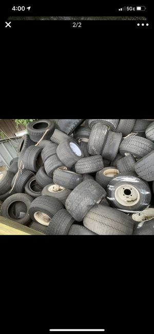 Golf cart rims and tires. Free if you take them ALL for Sale in Winter Park, FL