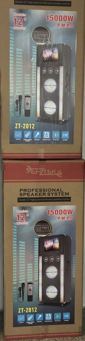 Zenith speakers karaoke touch screen for Sale in St. Petersburg, FL