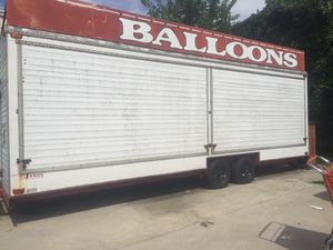 Game carnival trailer 24ft Good Condition I have the title it's park in Baltimore Maryland for Sale in Clark, NJ
