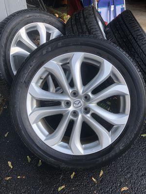 "Mazda CX-9 used Rim set w/ tire pressure sensors, center caps and lug nuts 2011-2015 20"" for Sale in Dunellen, NJ"