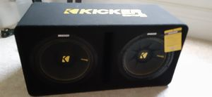 12 inch kicker C COMP SPEAKER , and1500 watt BOSS AMP. JUST SOLD MY SUV AND TOOK MY SPEAKERS OUT . LIKE NEW WITH TAG for Sale in Tampa, FL