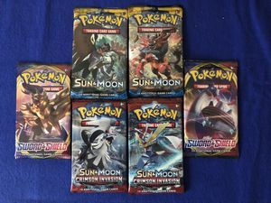 Pokémon TCG booster packs lot of 6 for Sale in Elgin, SC