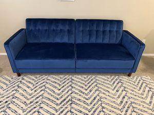 Wayfair Blue Velvet Nia Sofa Sleeper BRAND NEW for Sale in Chandler, AZ