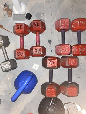 Weight plates and dumbbells for Sale in O'Fallon, MO