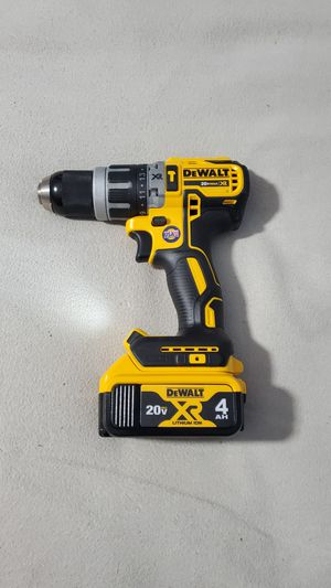 Dewalt 20V Max XR brushless 1/2in Hammer Drill Driver. Model dcd796. With new 4ah battery. Price firm for Sale in Plainfield, IN