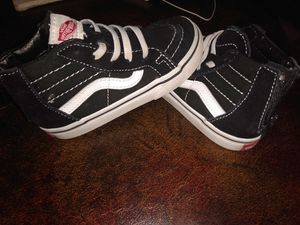 3 diff pairs of Brand new vans toddler size 8.0 $25 for all 3 for Sale in Chattanooga, TN