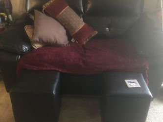 Black Sofa And Loveseat With 2 Foot Rests for Sale in Brighton,  CO