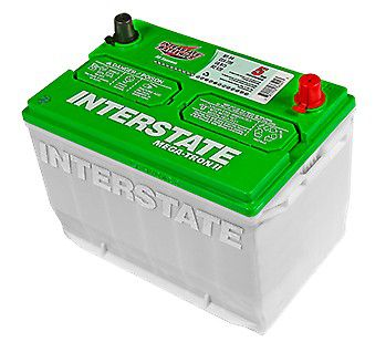 New used big interstate battery car was totaled