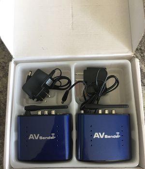 PAKITE PAT-630 5.8GHZ AV wireless Audio Video transmitter & receiver 200M blue for Sale in La Vergne, TN