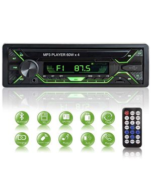 Brand new Car Stereo with Bluetooth - Single Din Radio FM Media with File Reading,USB/TF/SD/AUX Audio Receiver,HandsFree Calling with Wireless Contro for Sale in Farmers Branch, TX