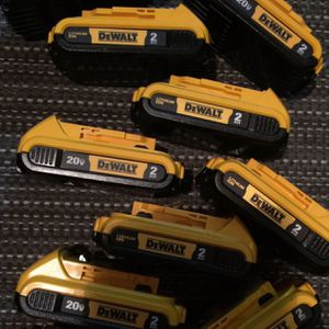 Dewalt batteries 2AH 20v. $25 EACH 🔥🔥 Firm Price no less. Pick up in the city of Van Nuys for Sale in Los Angeles, CA