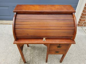 Antique rolltop roll-top roll top child's desk with chair for Sale in Odenton, MD