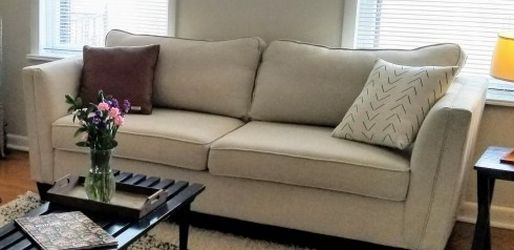 Modern Couch and Loveseat, Neutral Beige/ Off-white color for Sale in St. Louis,  MO