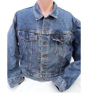 Vintage Levi's Denim Blue Jean 4891 USA Made Trucker Jacket medium for Sale in Clermont, FL