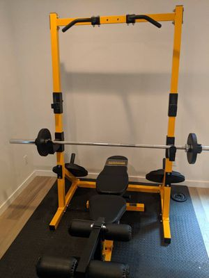 POWERTEC Half Rack and Adjustable Bench - Like NEW! for Sale in Tacoma, WA