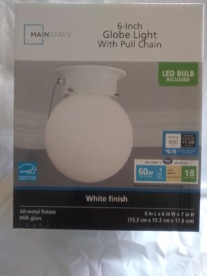 Mainstays 6' Globe Light With Pull Chain for Sale in Cleveland Heights, OH