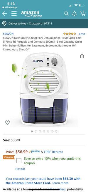 SEAVON mini humidifier 170 sq ft for Sale in Los Angeles, CA