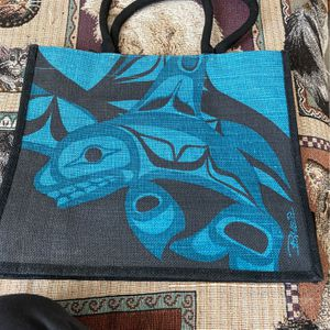 Native Canadian Design Tote Bag Burlap Material for Sale in Greenbelt, MD