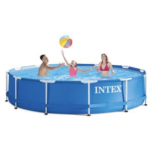"""Intex 12' x 30"""" Metal Frame Above Ground Pool with Filter Pump for Sale in Fresno, CA"""