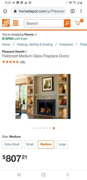 FIELDCREST Medium Glass Fireplace Doors for Sale in Glendale, AZ