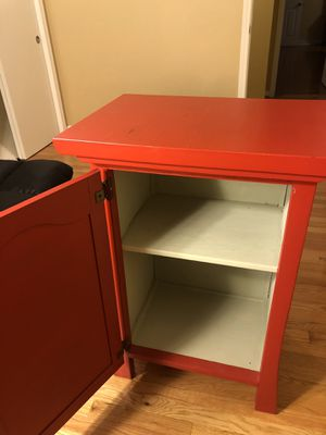 Handcrafted Red Cabinet for Sale in Overland Park, KS