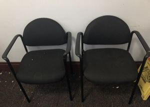 Cloth Office Chairs (2) $35 for Sale in St. Louis, MO