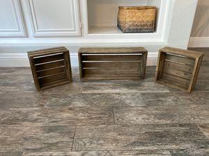 World Market Rustic Crate Shelves for Sale in Chula Vista, CA