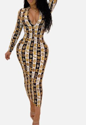 Coin print bodycon midi dress for Sale in Clearwater, FL