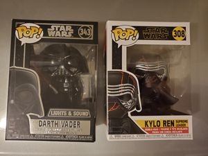 Funko Pop Star Wars Darth Vader and Kylo Ren for Sale in San Diego, CA