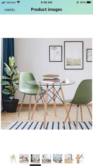 ROUND GLASS DINING TABLE for Sale in West McLean, VA