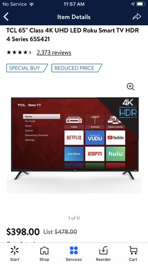 Tcl roku smart tv for Sale in Stockton, CA
