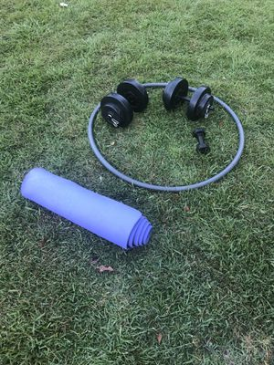 Weighted Hula Hoop & Yoga Mat for Sale in Savannah, GA