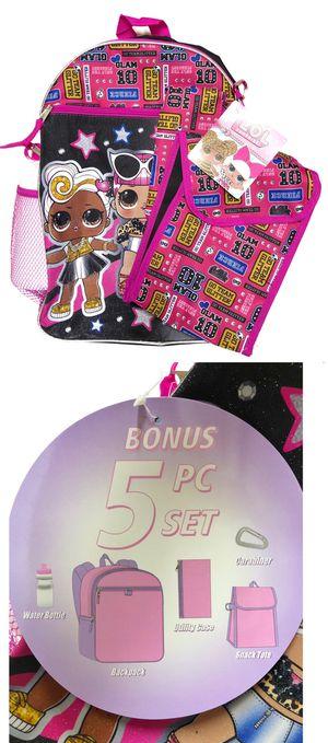 NEW! LOL Surprise Dolls Backpack Set school bag girls travel bag kids bag book bag lunch bag for Sale in Carson, CA