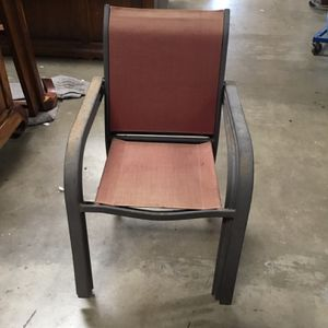 Stackable Metal Patio Chairs ($10 Each) for Sale in Chula Vista, CA