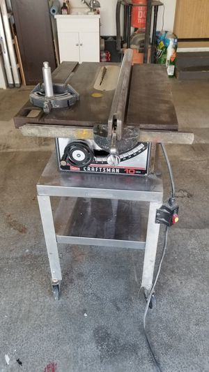 """Craftsman 10"""" Table Saw w/Rolling Cart for Sale in Renton, WA"""