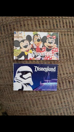 🎢🍿🥤🥨DISNEYLAND ONE ☝️ DAY ONE ☝️ PARK PEAK PEAK TICKETS (2) 🎟🎟🍭🍨🍧🍦 $250 FOR THE PAIR 🍭🍭FIRM for Sale in Lynwood, CA