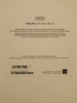 "Apple IPad PRO 11"" Like New In Box for Sale in Fort Lauderdale,  FL"