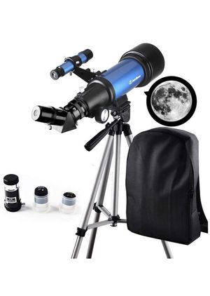 Telescope for Kids Beginners - Travel Scope 70mm Apeture Portable Telescope for Early Development Science with Backpack for Travel Carry Easily for Sale in Upland, CA