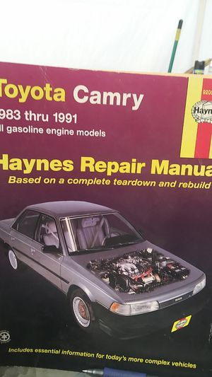 Toyota Camry 1983 through 1991 repair manual for Sale in American Canyon, CA