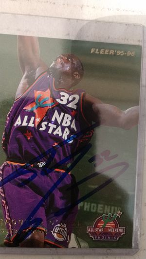 Shaquille O'Neal Autograph card for Sale in Jacksonville, FL