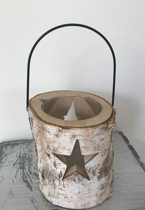 Wooden tree stump candle holder for Sale in Easton, MA