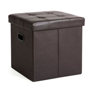 Faux Leather Storage Ottoman,original Price Was $25.99, Now Only For $13 for Sale in Chino, CA
